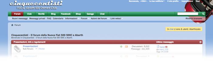 Homepage del portale Cinquecentisti